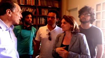 Equipe com Fabio Feldmann nos bastidores das gravações do documentário Substantivo Feminino