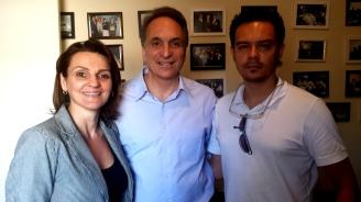 Daniela Sallet, Fabio Feldmann e Juan Zapata
